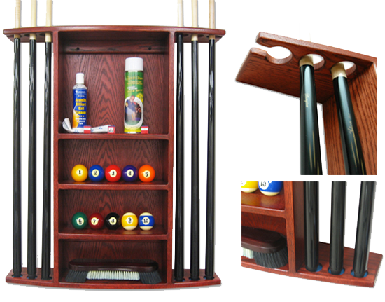 Diamond ball cue rack for Cue rack plans