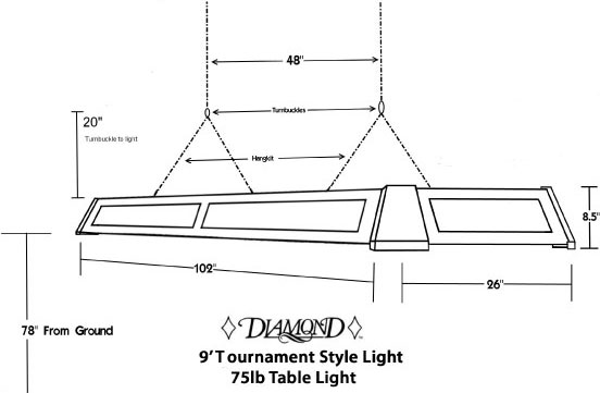 Accessories - 7 foot diamond pool table
